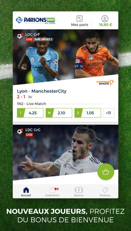 application parions sport en ligne android iphone