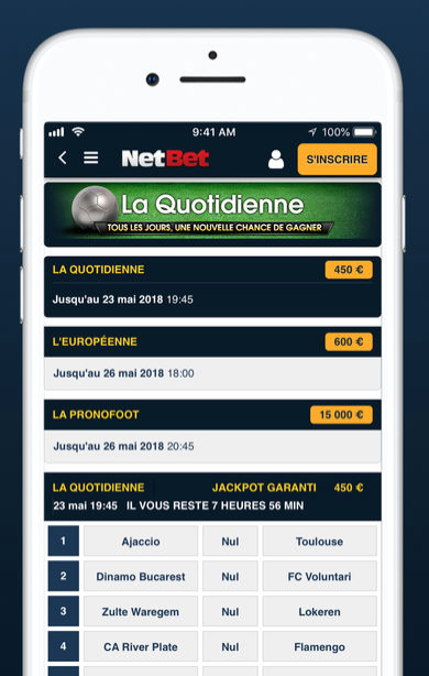 application netbet mobile android iphone
