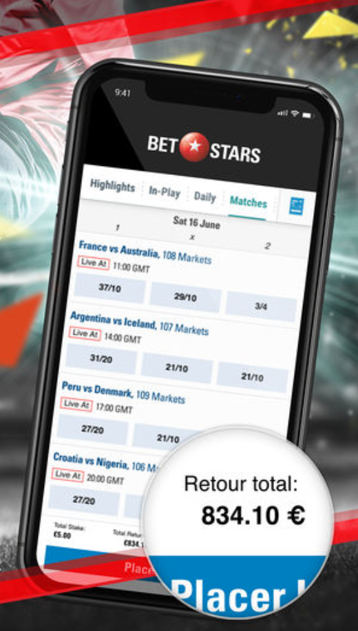 application betstars mobile android iphone